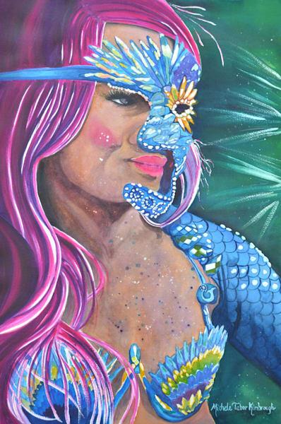 Princess Amathia   Crucian Carnival Series Vii, Unframed Art   Michele Tabor Kimbrough