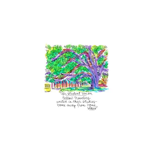 student union, louisiana state university:  tiny haiku art prints in elegant pen available for purchase online
