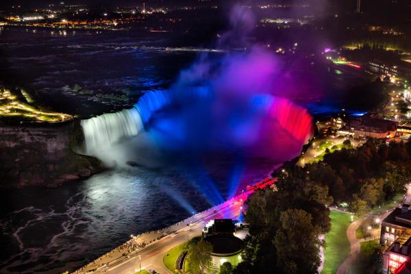Image 1   Slovakia Flag Colors On Horseshoe Falls, Niagara Falls Photography Art   Rick Vyrostko Photography