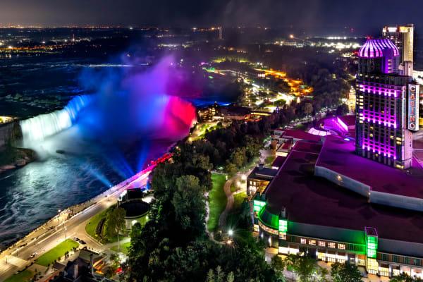 Image 2   Slovakia Flag Colors On Horseshoe Falls, Niagara Falls Photography Art   Rick Vyrostko Photography