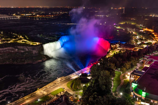 Image 4   Slovakia Flag Colors On Horseshoe Falls, Niagara Falls Photography Art   Rick Vyrostko Photography
