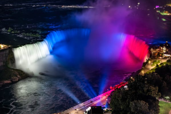 Image 3   Slovakia Flag Colors On Horseshoe Falls, Niagara Falls Photography Art   Rick Vyrostko Photography