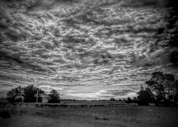 0000255 Rural Cloudy Sunrise Bw Photography Art   Heaterography