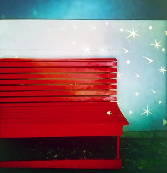 Red Bench Art   Donna Starnes Creative