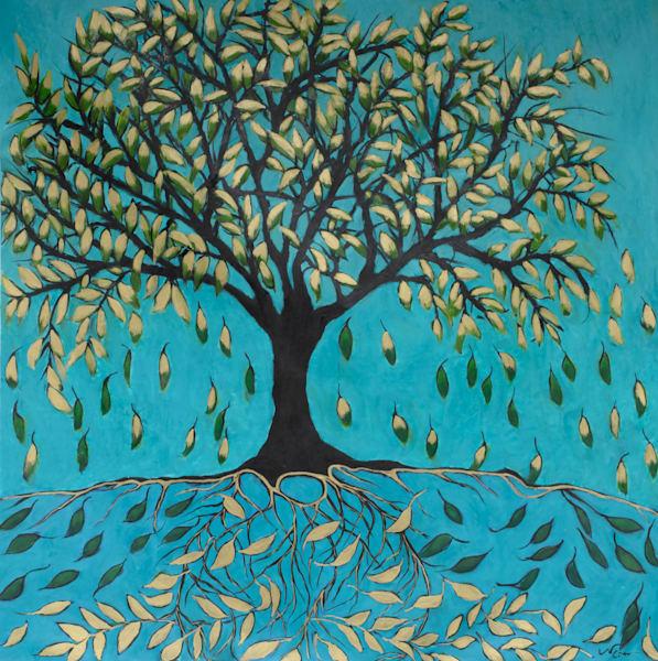 Life Of A Tree: Falling Leaves Art | Norlynne Coar Fine Art
