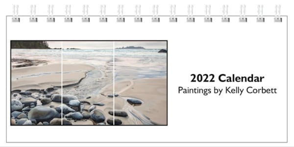 2022 Desktop Calendar 8.5x4x5 inches, full of my favourite paintings!