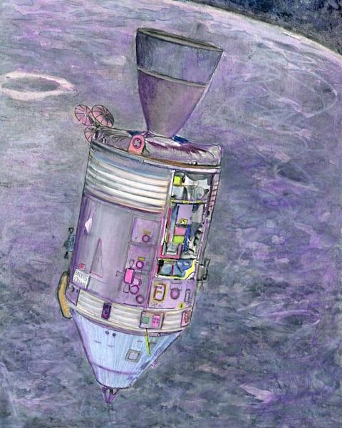 Spaceship Original Art   Artwork by Rouch