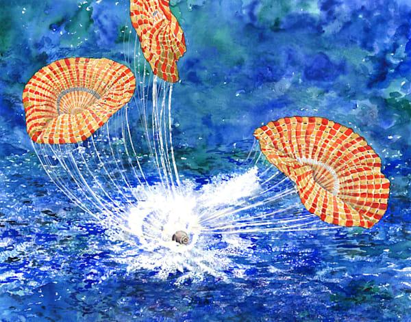 Splashdown Original Art   Artwork by Rouch