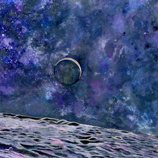 Earthrise Original Art   Artwork by Rouch