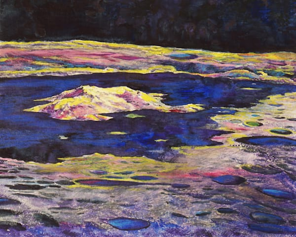 Tsiolkovsky Crater Original Art   Artwork by Rouch