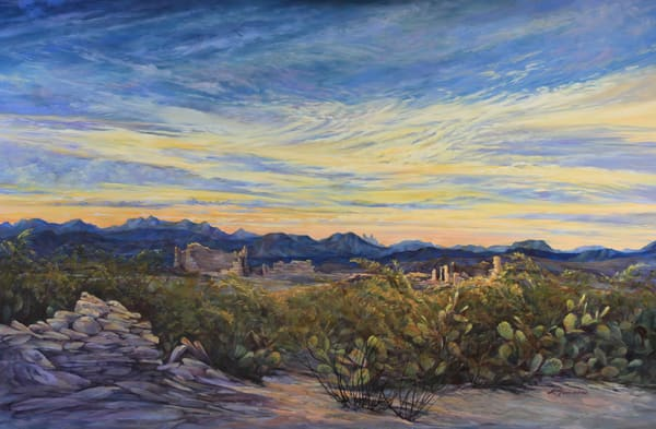 Lindy Cook Severns Art   Sunrise Wakes the Ruins, print