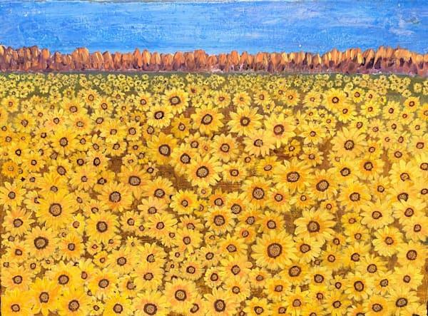 Field Of Sunflowers Art | Rowena Art Shop