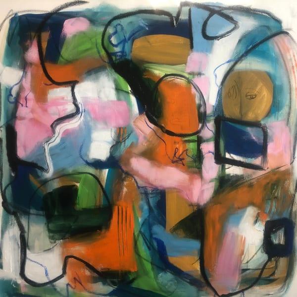 De Veuve Alexis Lifeline To Freedom 36 X 36  Oil And Cold Wax On Canvas Art | MardisArt