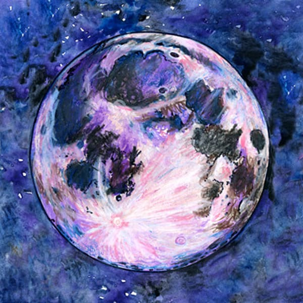 The Moon Limited Edition Art | Artwork by Rouch