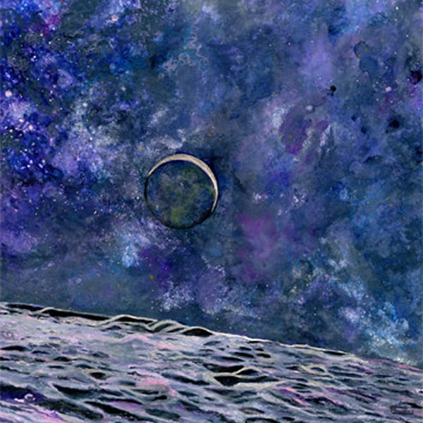 Earthrise Limited Edition Art | Artwork by Rouch