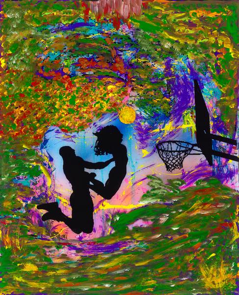 The Heavenly Assist | Sports Art | JD Shultz Art