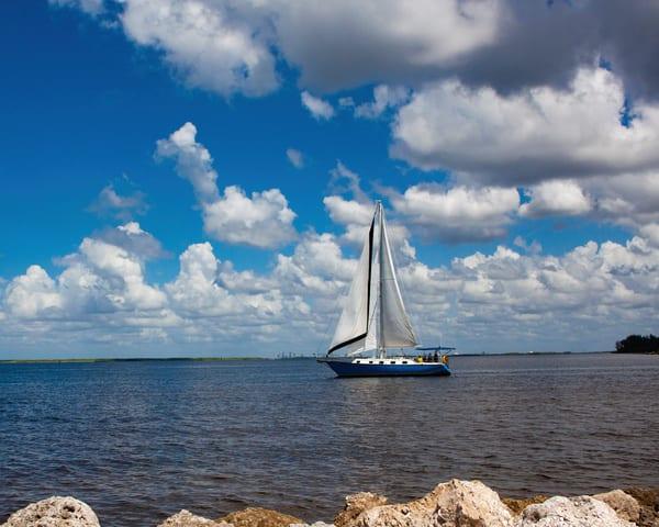 Blue Sailboat Photography Art | It's Your World - Enjoy!