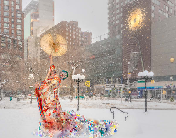 'kimono, Union Square' Archival Pigment Print Photography Art | Cid Roberts Photography LLC