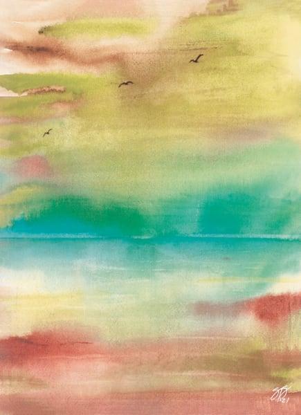 """""""Infinite Oceans"""" - Watercolor Reproduction"""