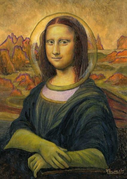 Sold !! Astro Mona On Mars Original Art Art   Artwork by Rouch