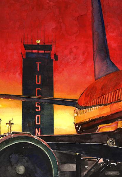 Tucson Control Tower Original Art Art   Artwork by Rouch