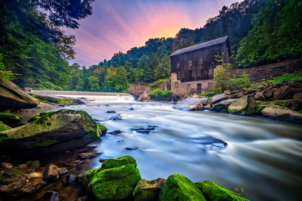 Morning at McConnell's Mill - Pennsylvania gristmill fine-art photography prints