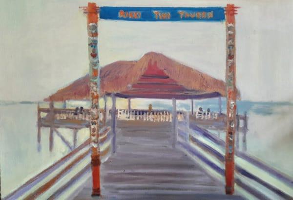 """Riki Tiki Tavern Sunrise"" by Karen Chadbourne, Oil Painting"