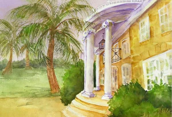 """Porcher House"" Fran Call, Watercolor"