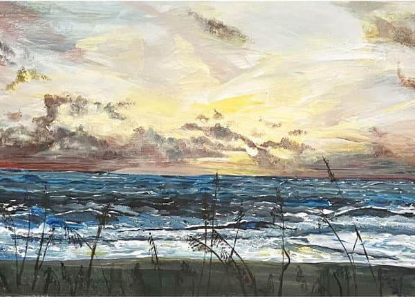 """Sunrise on the Beach"" Egle Bredikis, Acrylic"