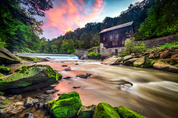 Sunrise at McConnell's Mill - Pennsylvania gristmill fine-art photography prints