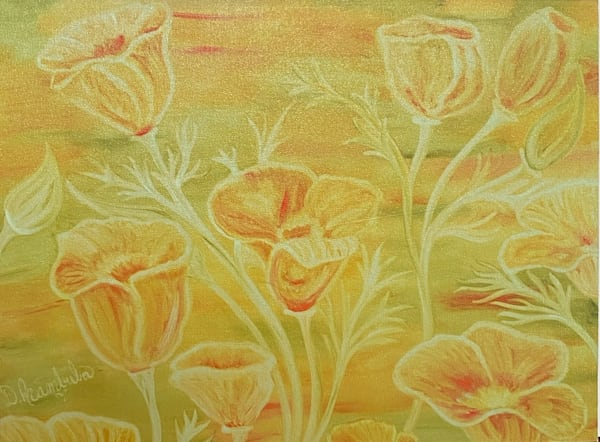Rebirth Of The California Poppies  Artist Proof On Masonite Board  Art | Heartworks Studio Inc