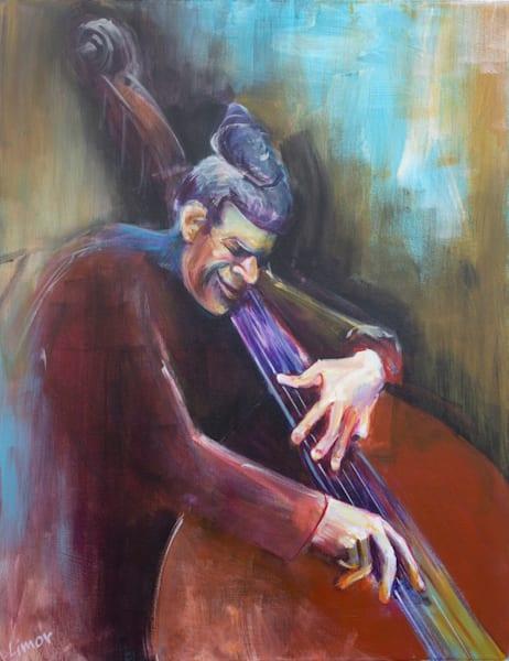 Bass Man Original Art | Limor Dekel Fine Art