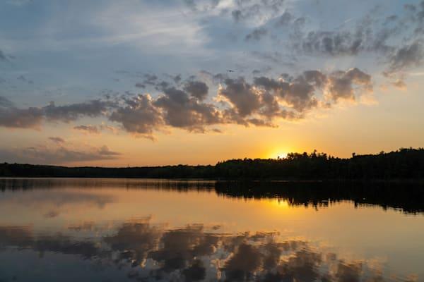 Sunset Over Dead River Reservoir, Marquette Tourust Park, Marquette, Michigan. Upper Peninsula