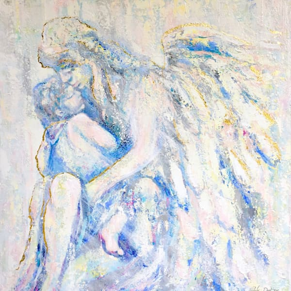 guardian angel print reproduction angel with child by Sophie dare