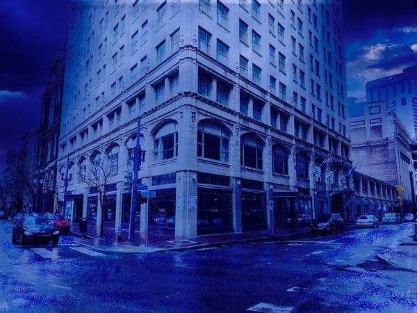 No 1583.Blue Art | Glenn McDaniel Arts, LLC