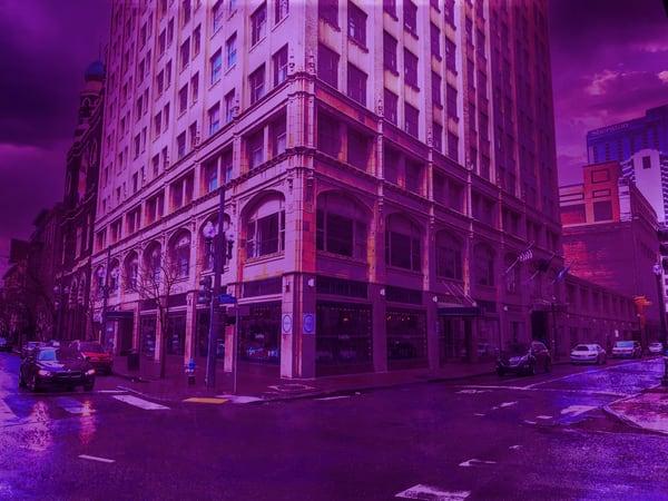 No 1583.Purple Art | Glenn McDaniel Arts, LLC