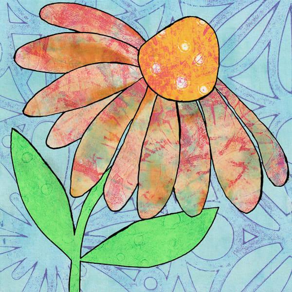 Raise Your Face To The Sun: Original Mixed Media Artwork by Jennifer Akkermans