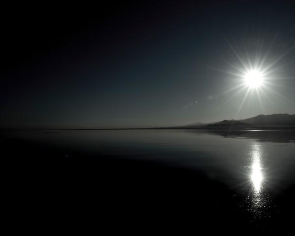Sunset Over A Dark Sea   Monochromatic  Photography Art | Tamea Travels
