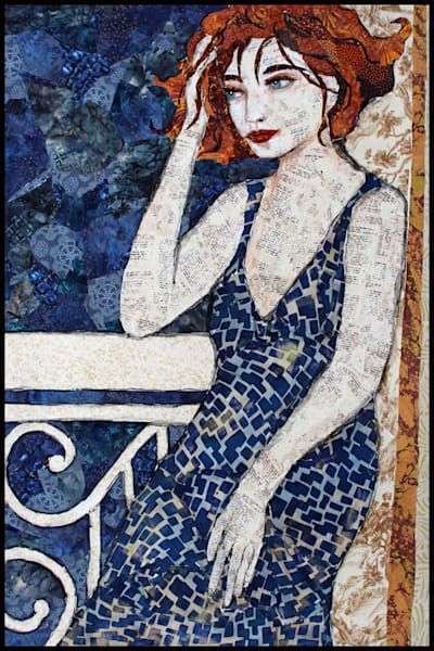After Midnight (2) is a textile mosaic by Sharon Tesser