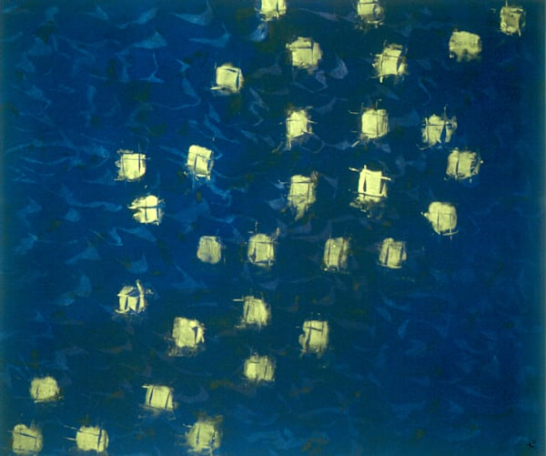 Lanterns In The River  Art   Norlynne Coar Fine Art