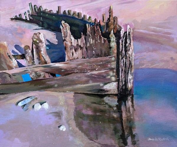 Coastal Wreck Original Artwork