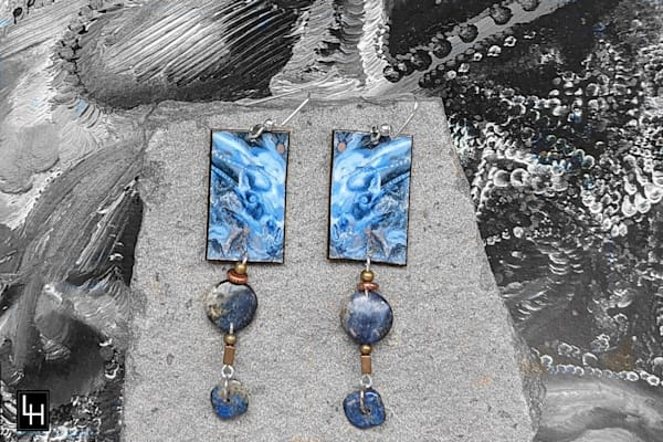 Holding The Blue Horse_No. 5 Earrings