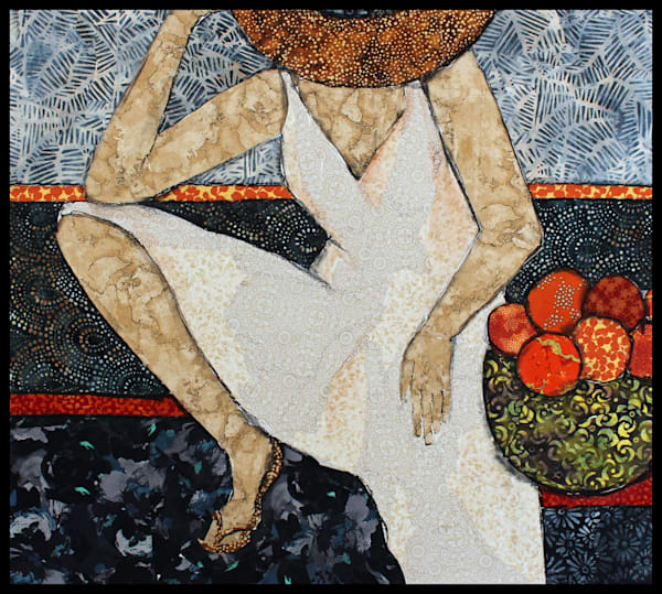 After Market is a textile mosaic by S. Tesser