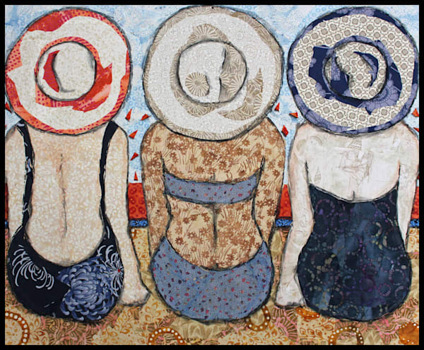 Days of Summer (3) is a textile mosaic by Sharon Tesser