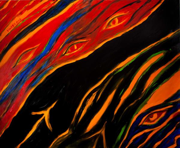 Sexual  Lust Transparency 60x72 8640 Art | Dinesh Doshi Art