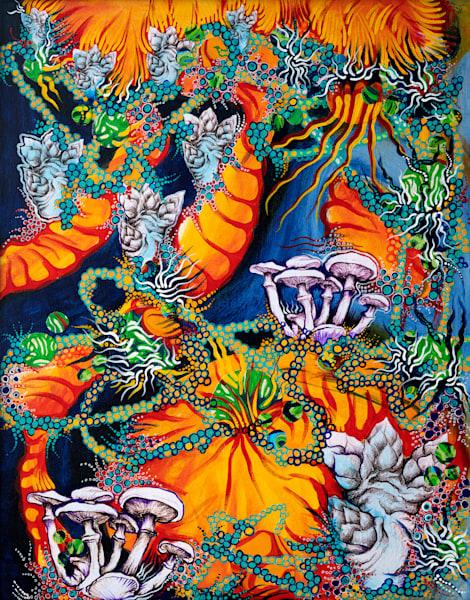 Cosmic Mushrooms Art   Hava Gurevich Art