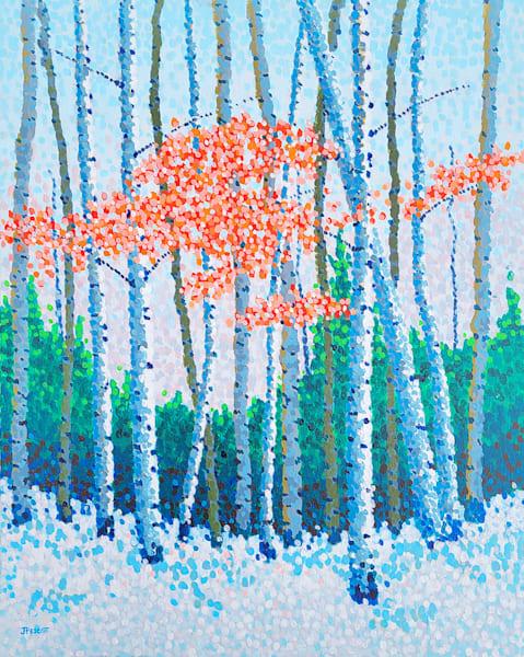 Last Reds Of Autumn Art | Jim Pescott Art
