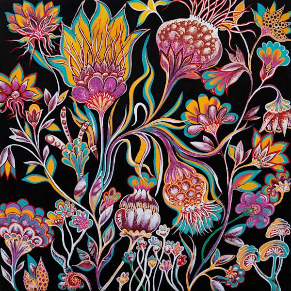 Moonlit Garden Art | Hava Gurevich Art