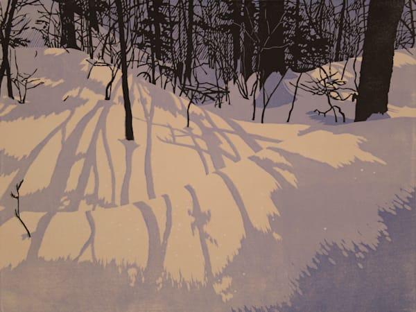 Winter Light, linocut print by William Hays