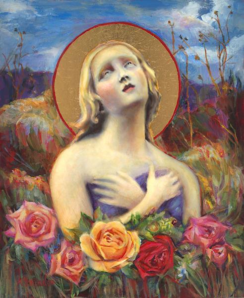 "Embellished Canvas Giclee ""Santa Fe Angel Of Hope"" Art | Maniscalco Art"